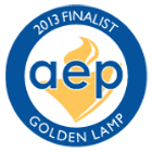 Seal and Logo for AEP Golden Lamp 2013 Finalist
