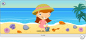graphic of a girl at the beach
