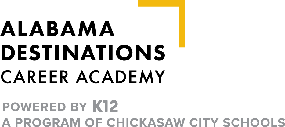 Logo of Alabama Destinations Career Academy - Powered by K12