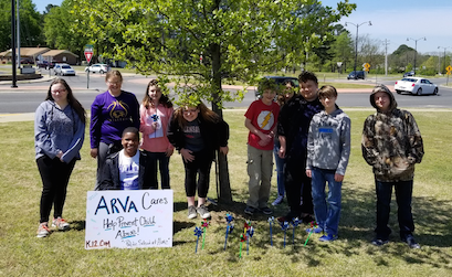 ARVA Students at Community Service Event