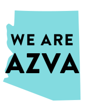 A Graphic with text We are AZVA
