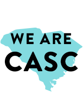 A Graphic that reads We are CASC
