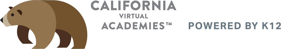 Logo of California Virtual Academies - Powered by K12