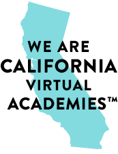 Graphic image with text We are California Virtual Academies