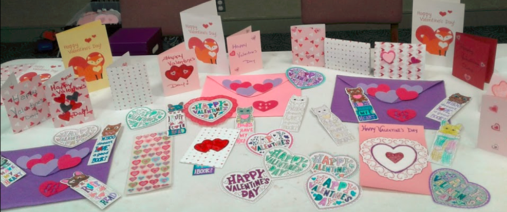 Valentines created by FLCCA students
