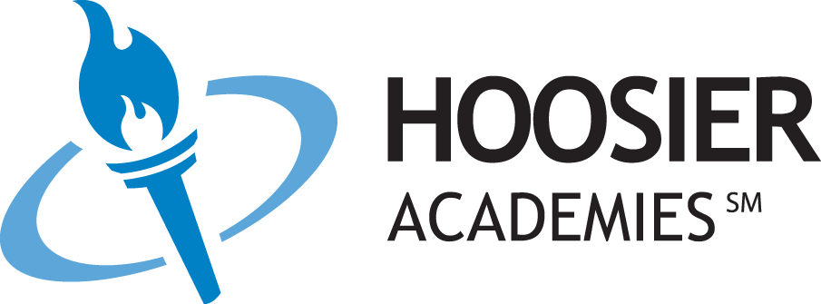 Logo of Hoosier Academies - Powered by K12
