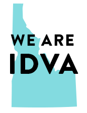 Graphic with text We are IDVA