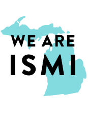 Michigan State with We are ISMI text