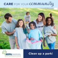 July Community Service - clean up a park