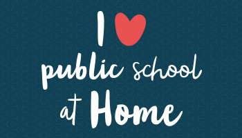 2018 K12's I Love Public School at Home Contest Logo