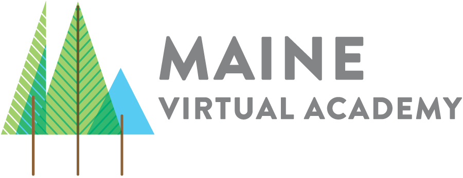 Logo of Maine Virtual Academy - Powered by K12
