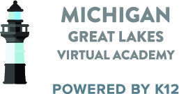 Logo of Michigan Great Lakes Virtual Academy - Powered by K12