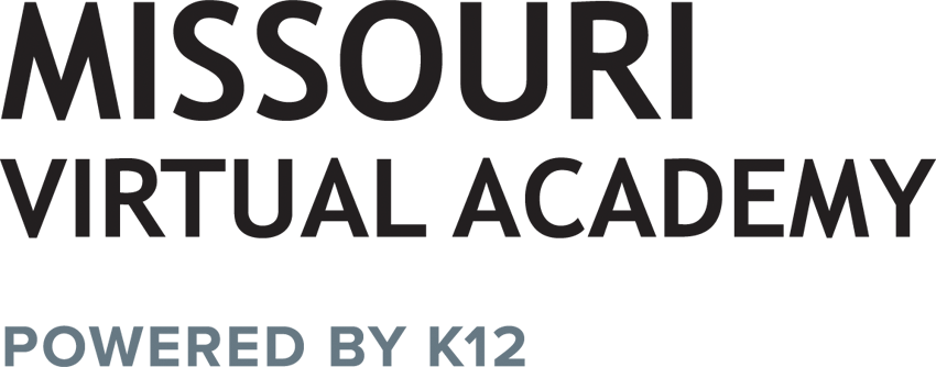 Logo of Missouri Virtual Academy - Powered by K12