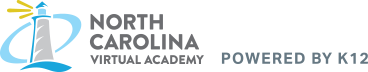 Logo of North Carolina Virtual Academy - Powered by K12