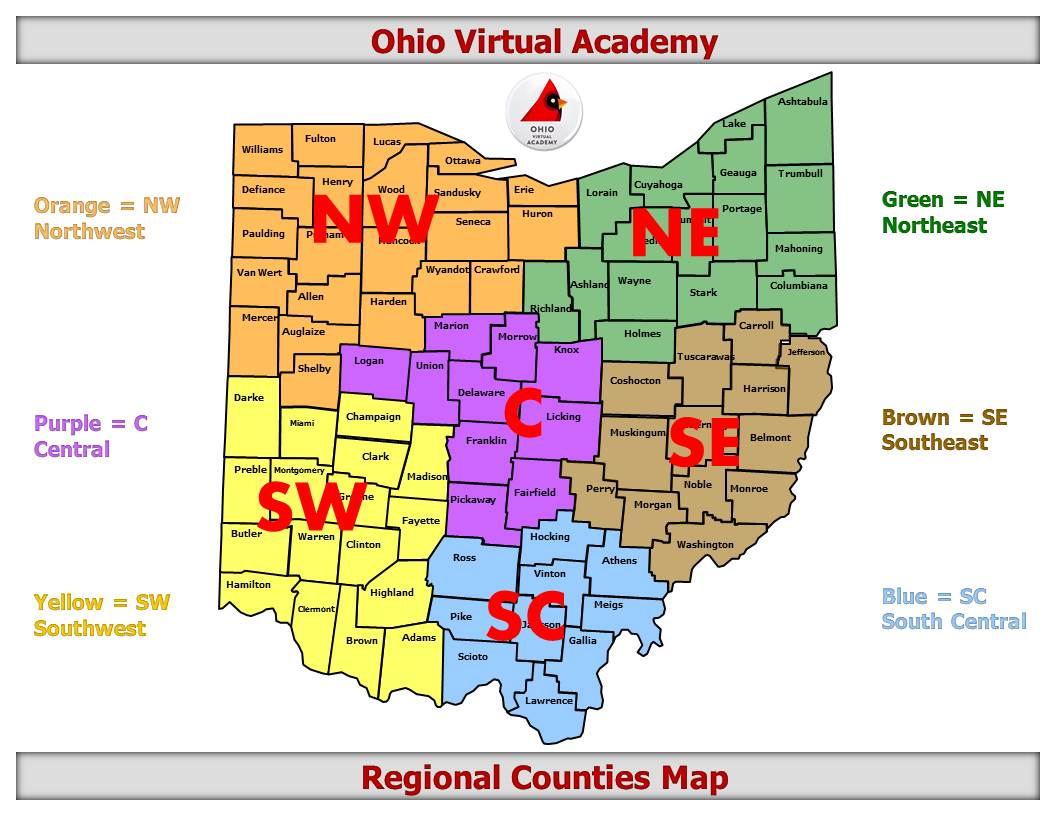 Ohio virtual academy map of districts