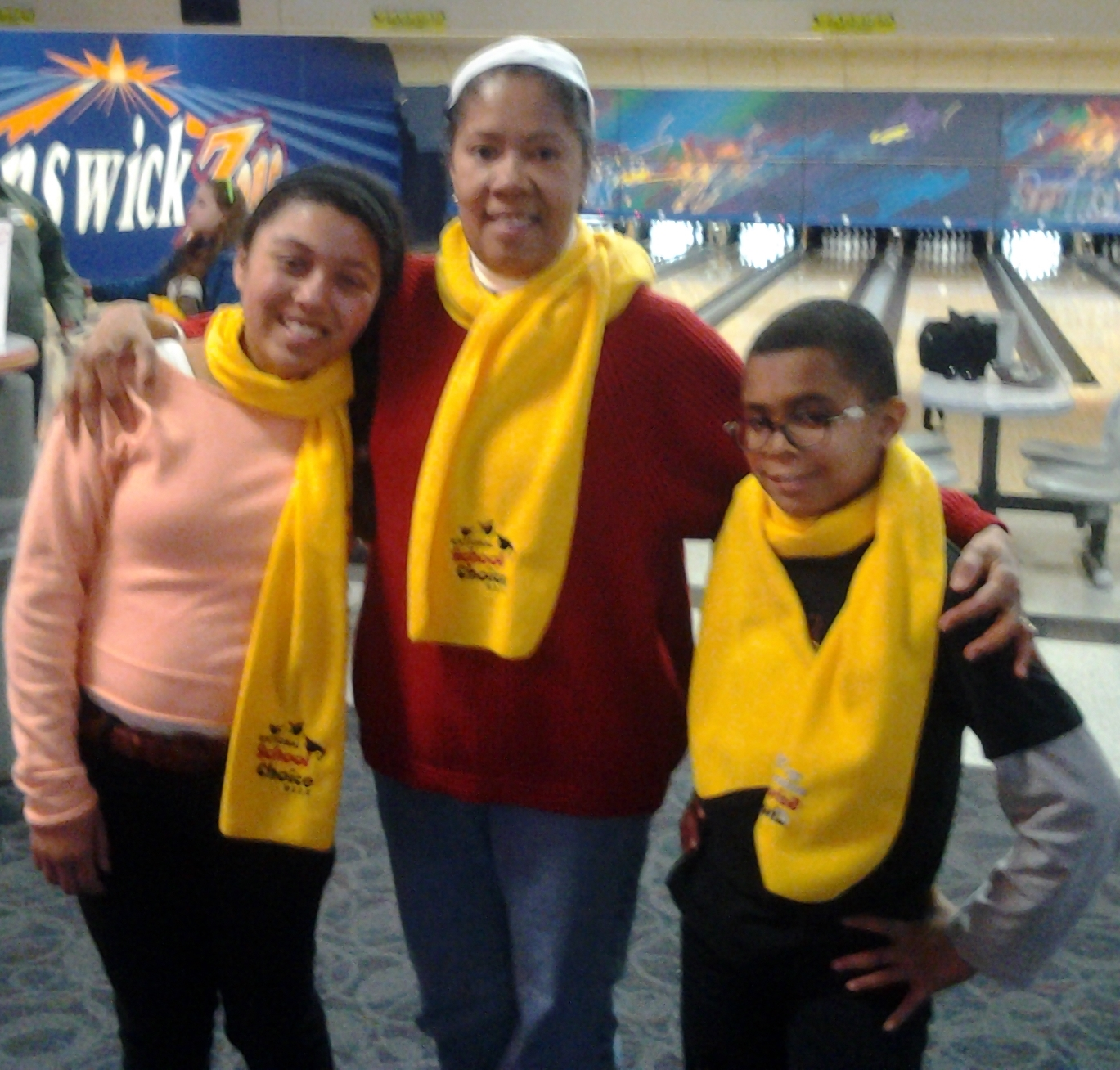 Photo of a teacher with 2 students from School Choice North Ridgeville