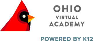 Logo of Ohio Virtual Academy - Powered by K12