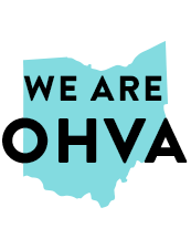 Graphic text with text We are OHVA