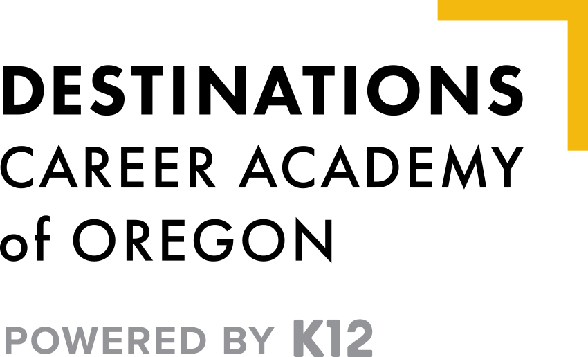 Logo of Destinations Career Academy of Oregon - Powered by K12