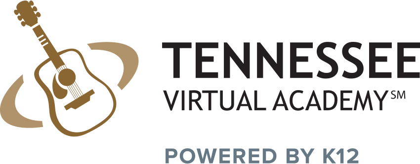 Logo for Tennessee Virtual Academy - Powered by K12