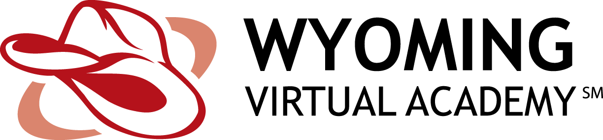 Logo of Wyoming Virtual Academy - Powered by K12