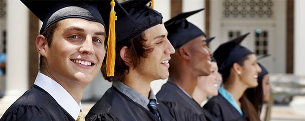 Photo of student during graduation