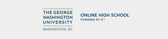 The George Washington University Online High School, Washington, DC, Powered by K¹².