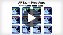 Go to the AP Exam Prep Apps video